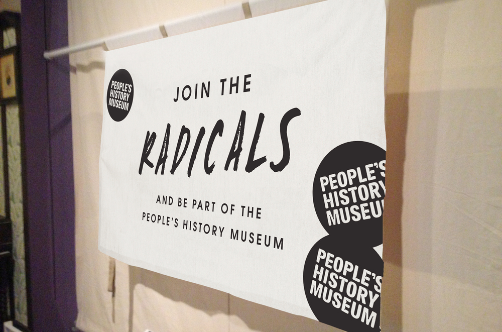 Join the Radicals campaign design and marketing banner designs