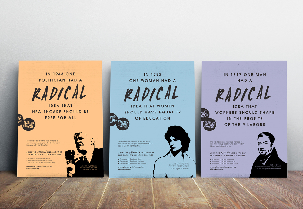 Join the Radicals campaign design and marketing poster designs