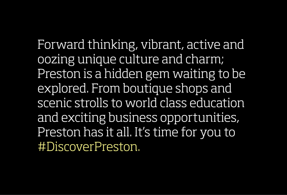 Discover Preston Brochure Design and Marketing Front Cover