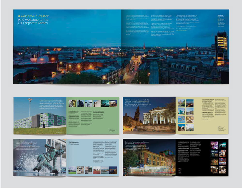 Discover Preston Brochure Spreads Design and Marketing