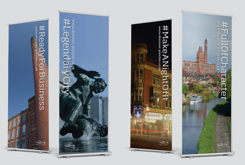 Discover Preston Banner designs and marketing