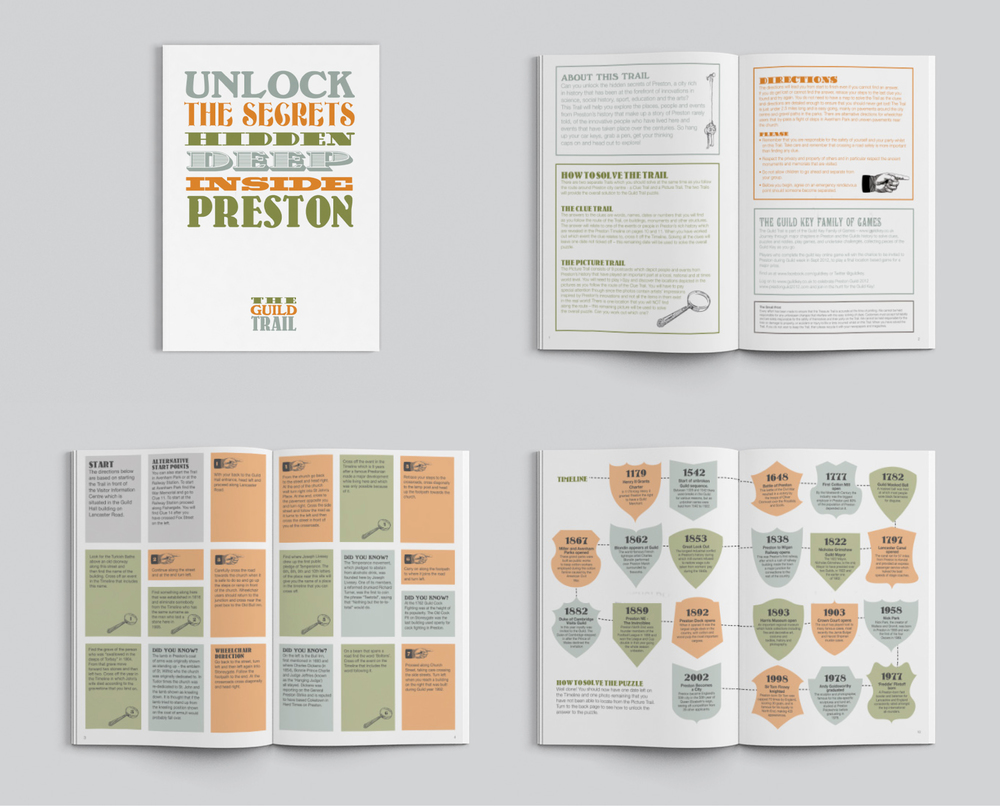 The Guild Trail preston branding brochure