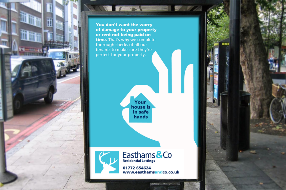 Easthams & Co Letting agents brand design advert