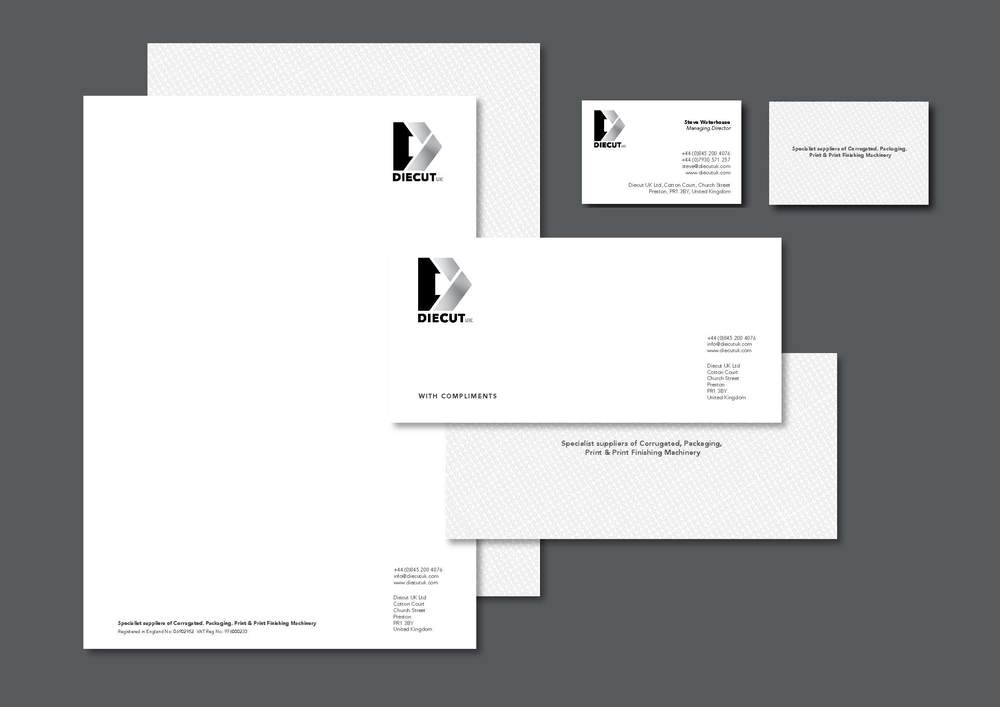 Diecut UK preston design of stationery