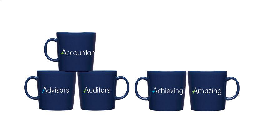 Advance Accountancy brand design mugs Southport