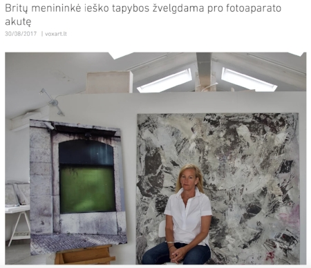 Press- Kaunas Photo  Gallery Meno Parkas Stacie McCormick In Search of Paintings 1st September- 30th Sept. 2017 - Kaunas, Lithuania