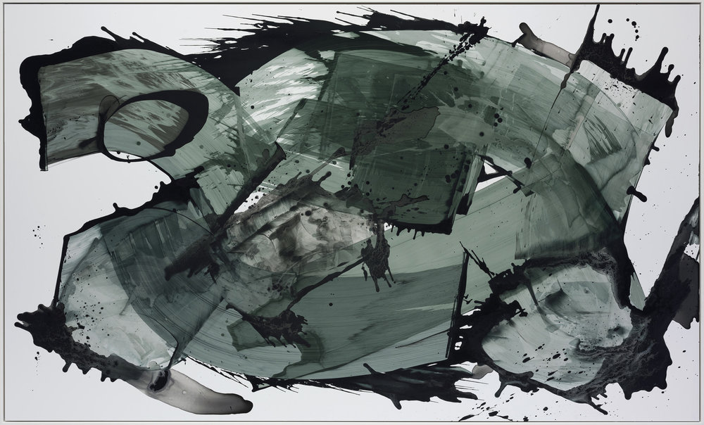 Pallas , 2018  Acrylic and Indian Ink on Paper  250 x 155 cm