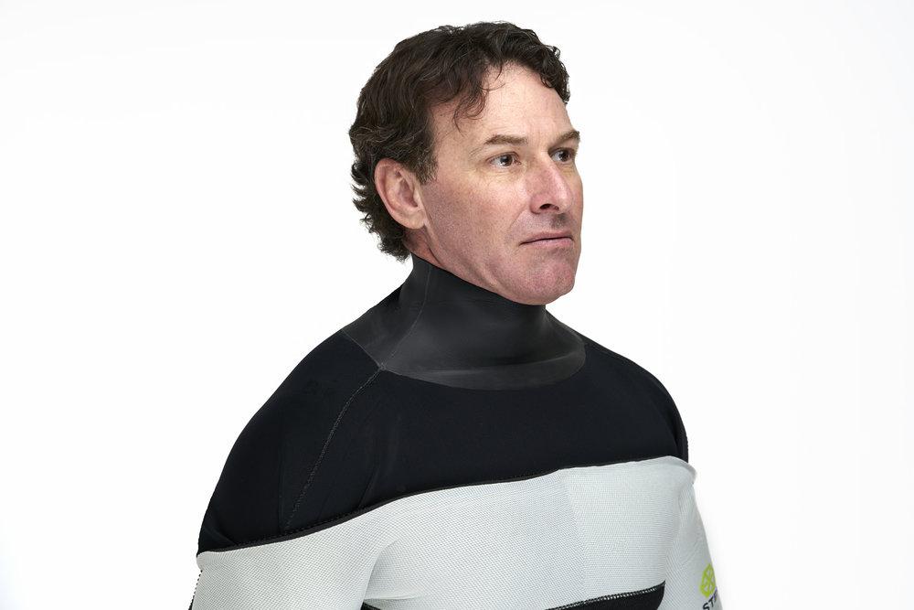 HECS semi-dry scuba suit inner neck lining.
