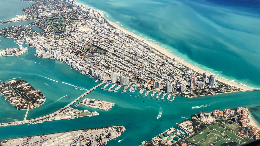 Miami Beach by the Plane