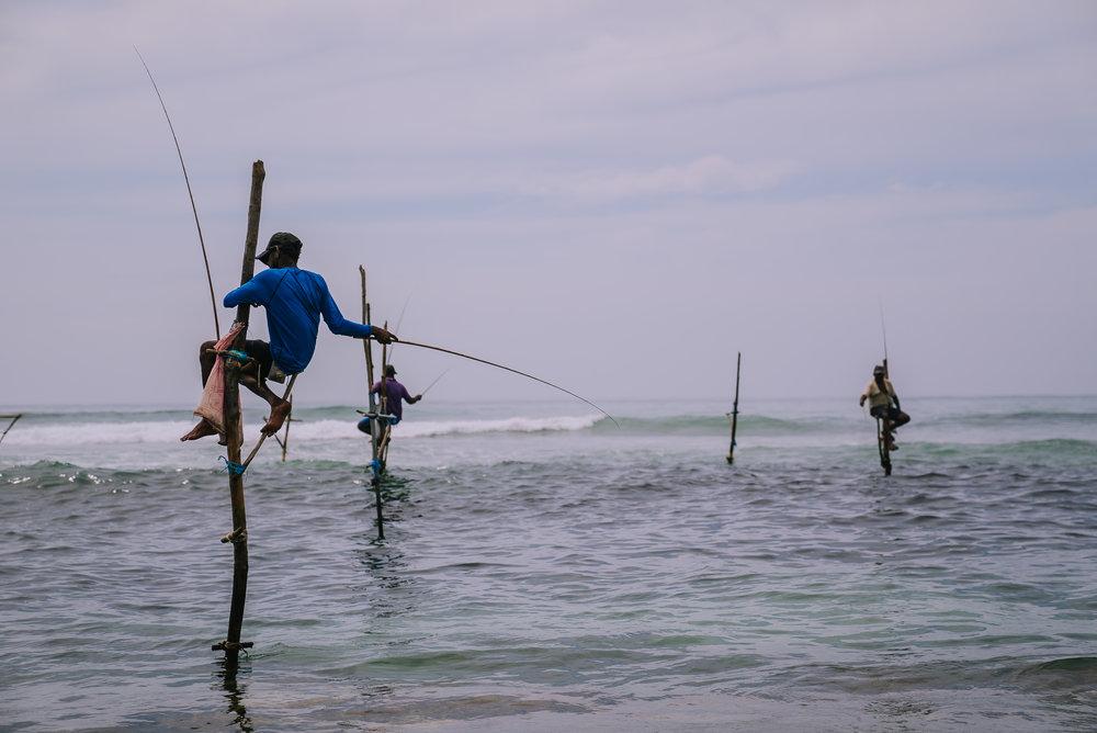 Pescatori sui pali