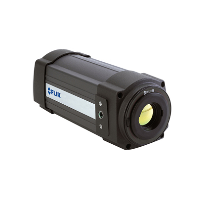 FLIR A320 - The FLIR A320 is a camera pre-configured to work well in applications where you want to find temperature deviations in a population of people, utilising difference temperature alarms with a dynamically updated reference temperature.