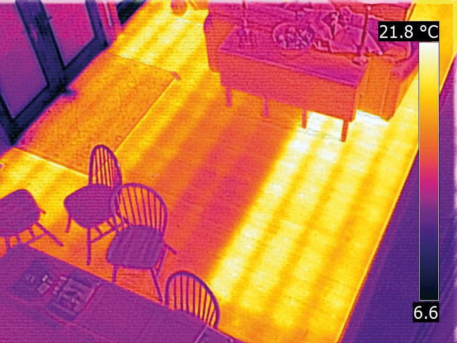 FLIR cameras can detect leaks through flooring, depending on the depth of pipework.
