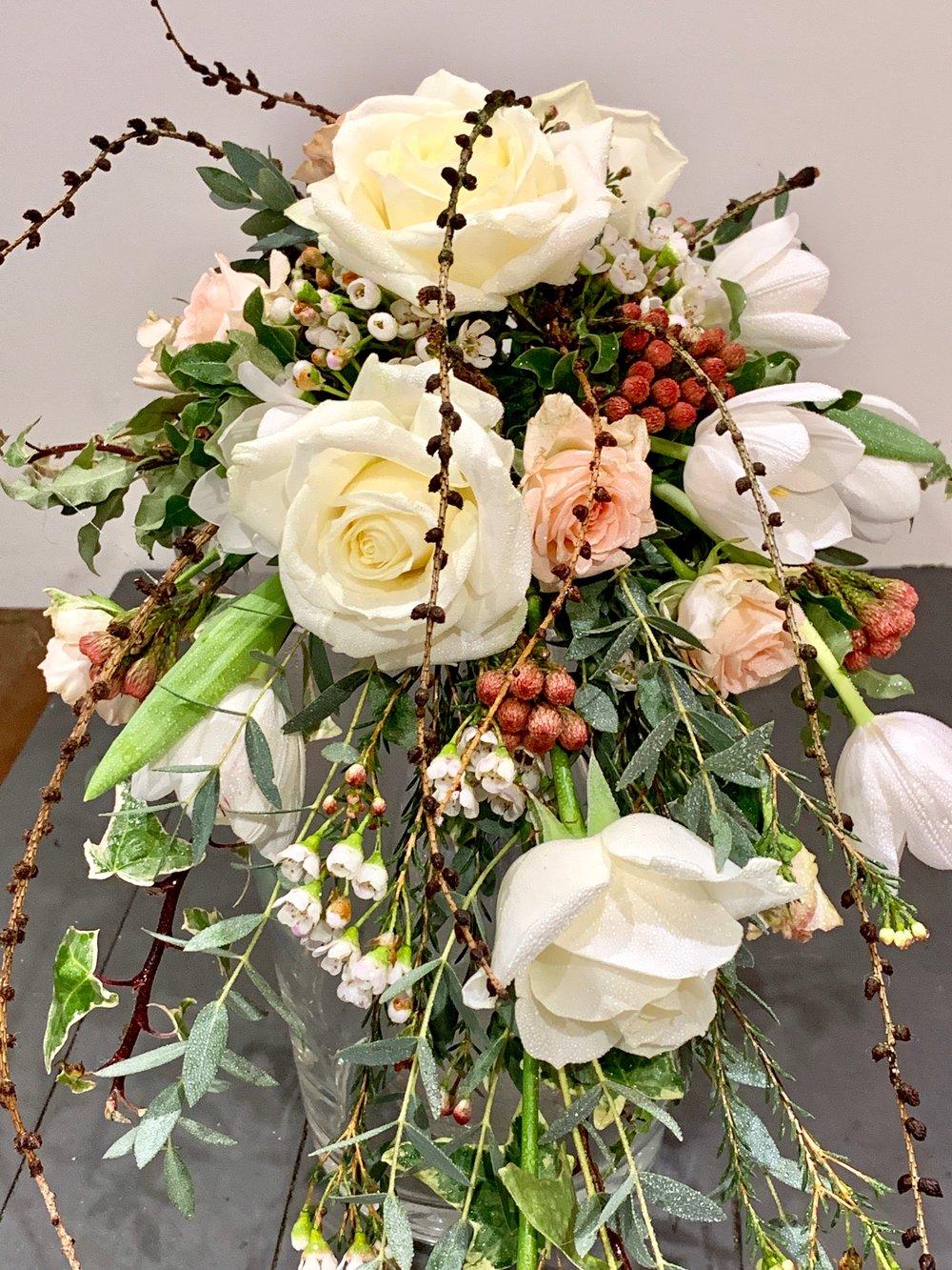 Wired shower bridal bouquet