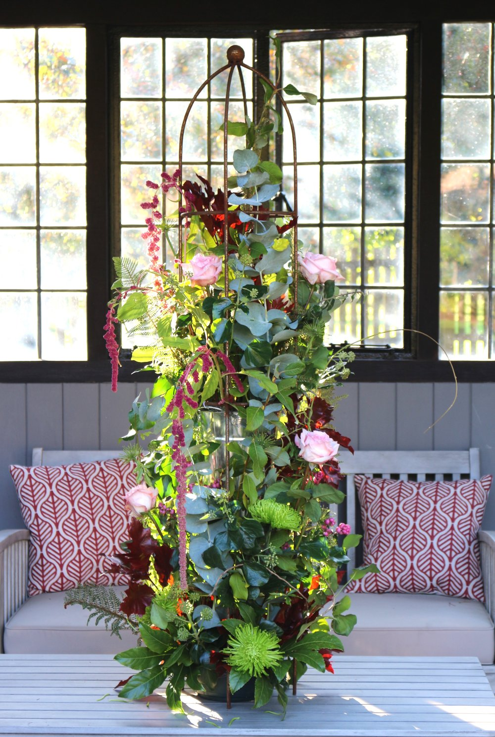 No foam floral column