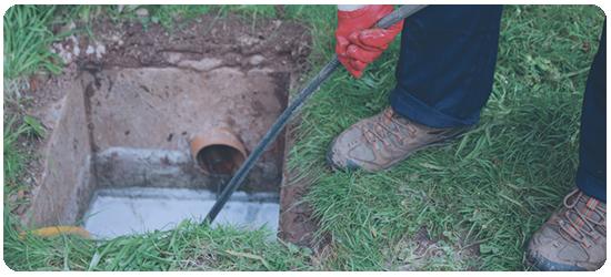 Blocked sewer -