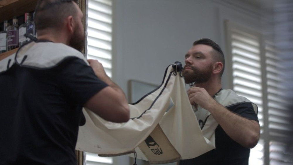 "The ""Clippings Catcher""catches beard trimmings before they go down the drain causing a blockage. Photo credit:    The Shaver Shop"