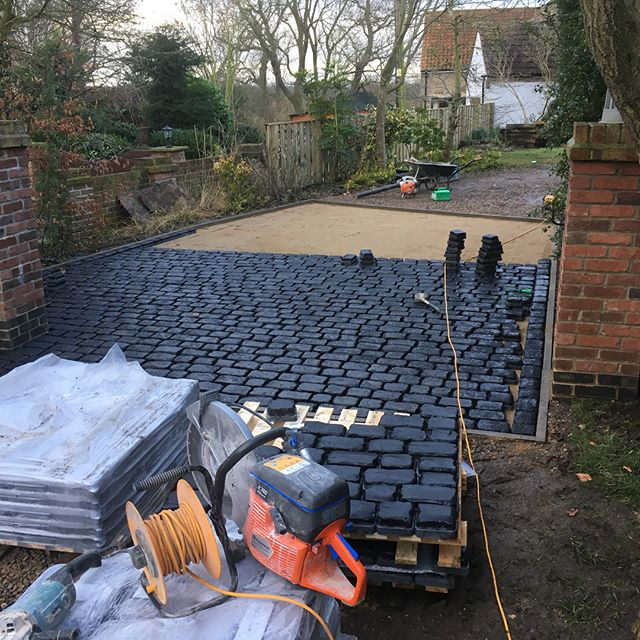 A new block paving product we recently installed to give a cobble finish.