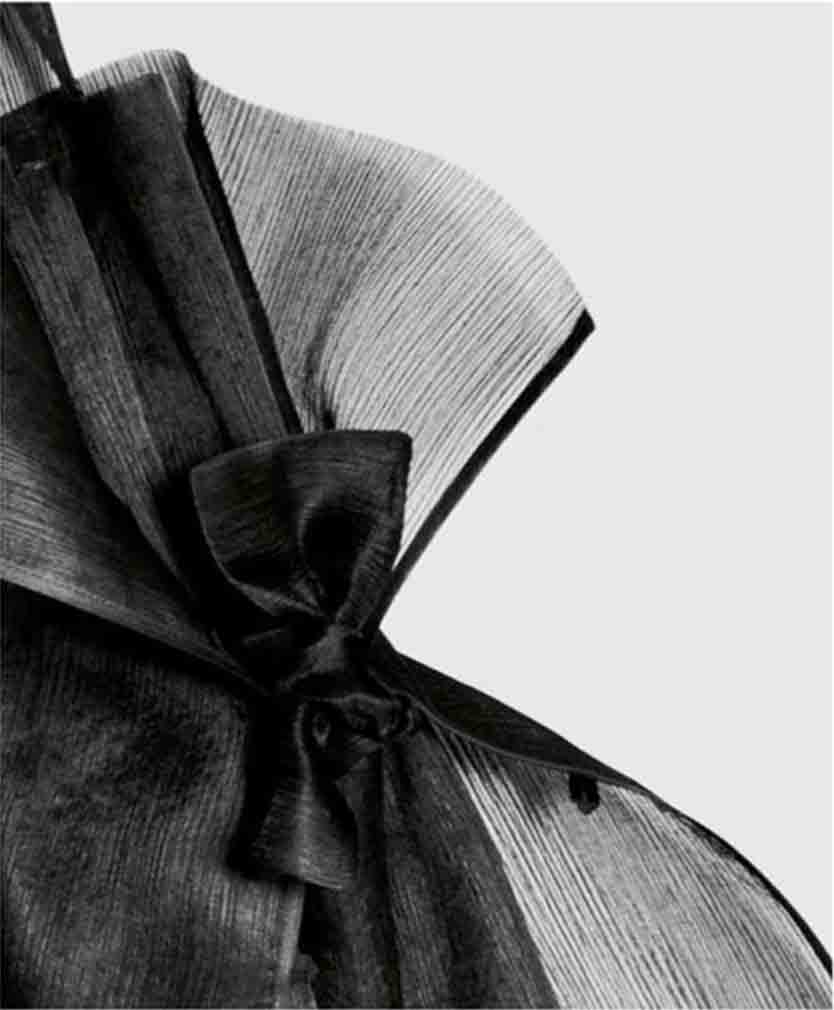 detail | silk apron dress with tie-bows