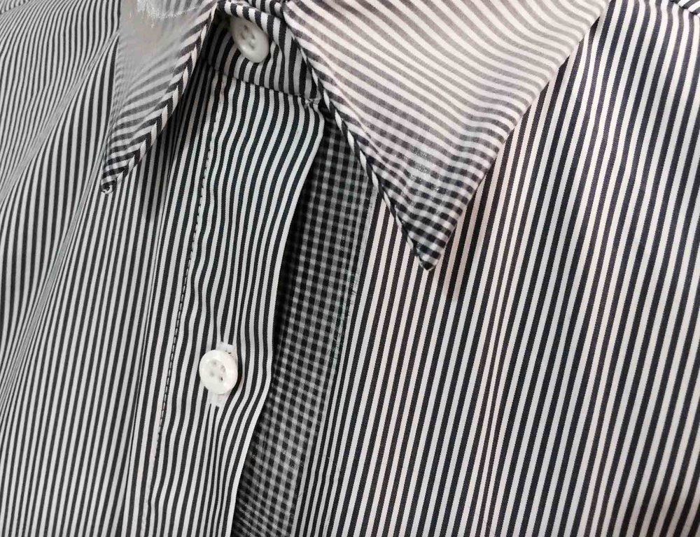 detail | fading stripe print detail