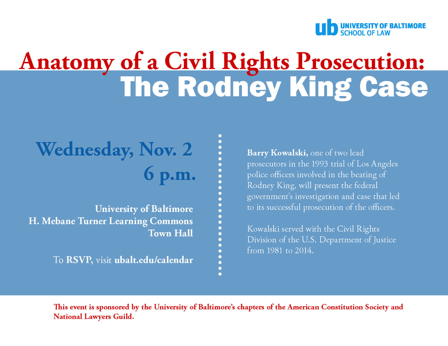 Community Event | Anatomy of a Civil Rights Prosecution: The Rodney ...