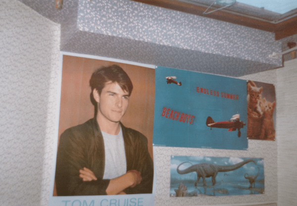 Ever the rebellious teenager, I put posters on my ceiling. Yes, even the ceiling had wallpaper on it!