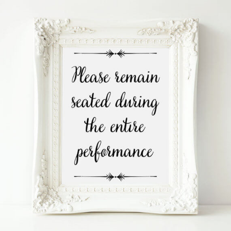 Please Remain Seated Bathroom Print by OrchardBerry