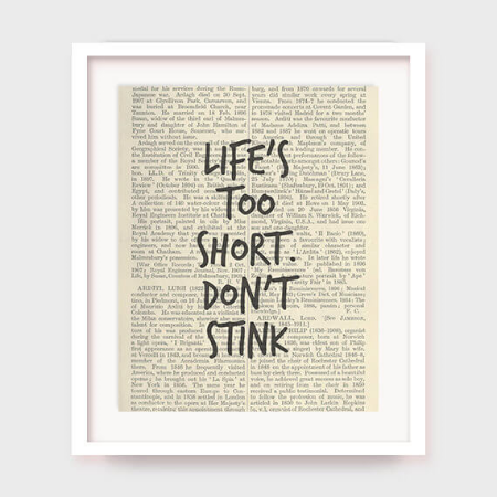 Life's Too Short Bathroom Printable by myprintableartshop