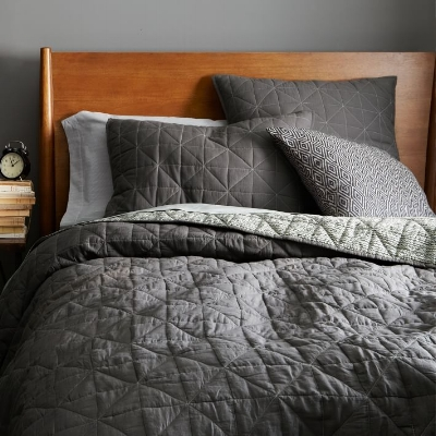 Nomad Coverlet and Shams from West Elm