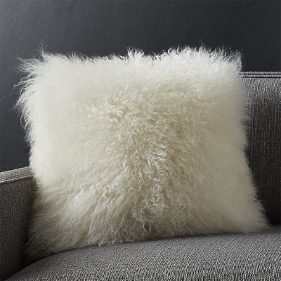 "Pelliccia Ivory 16"" Pillow from Crate & Barrel"