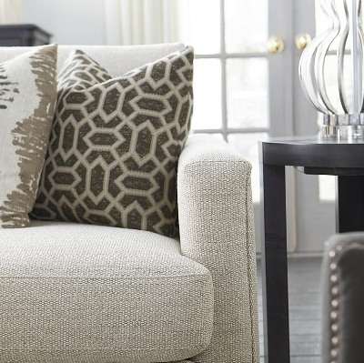 Allure Sofa in Oyster from Bassett Furniture