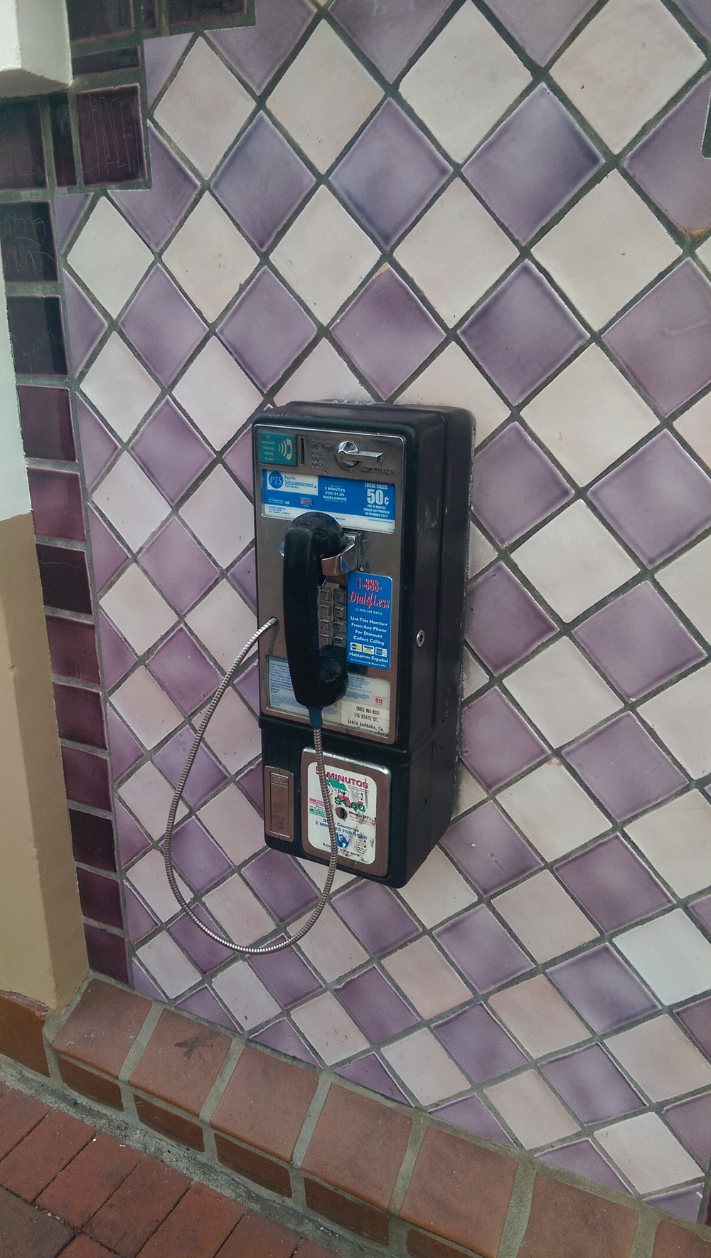 Downtown Santa Barbara. I threw this in just because I didn't know there were still payphones around.