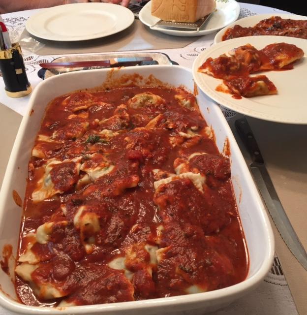 Mom's ravioli.