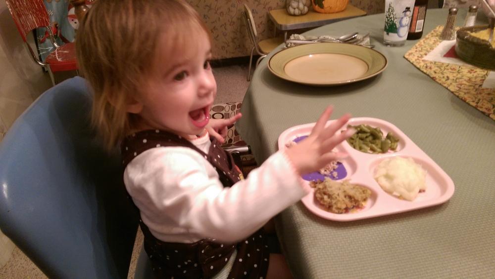 Having some Thanksgiving dinner