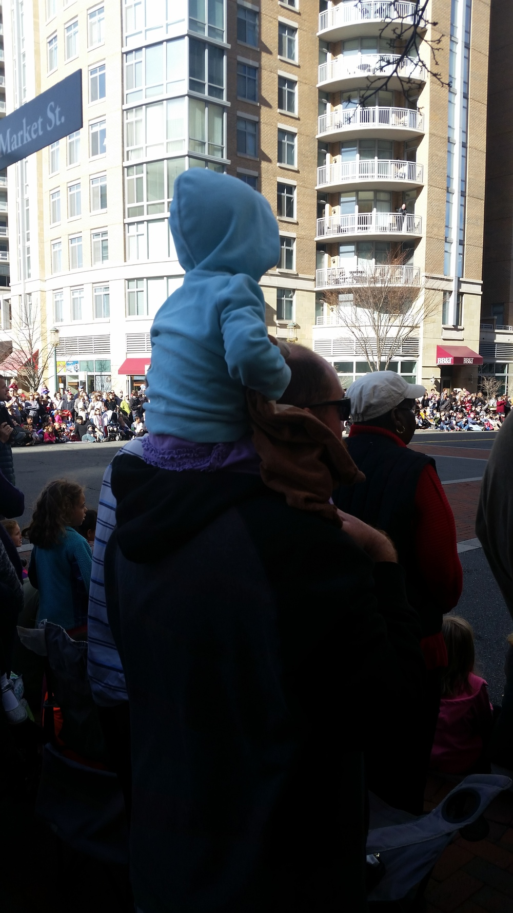 Daddy and Cece at the parade.