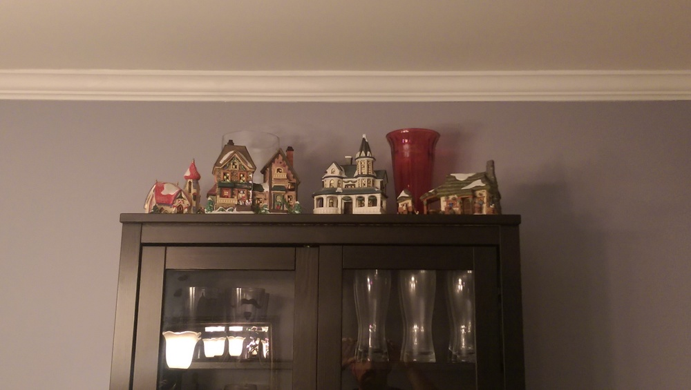 With adding Nana's houses I had to expand to to the top of the China cabinet.