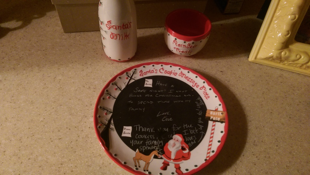 Cece left a note for Santa and Santa wrote her back.