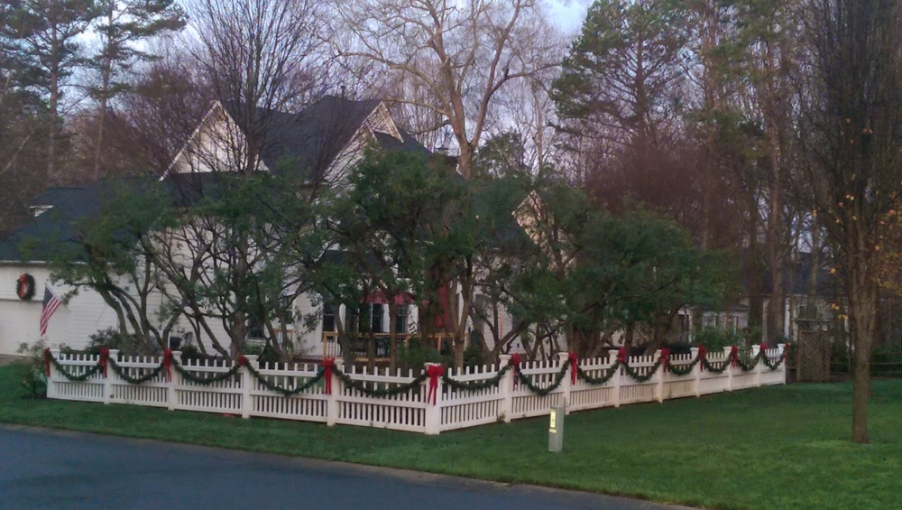 A house I saw while jogging. I just loved the simple Christmas decorations.