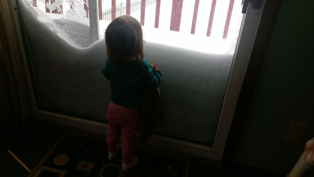 Snow was almost as high as Cece.