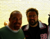 That time I got a picture with Kevin Smith (Dante from Clerks) - Fuzzy due to age of picture