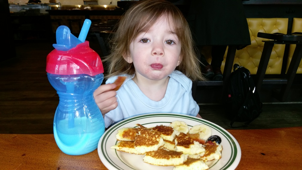 Enjoying Mr. Pancake