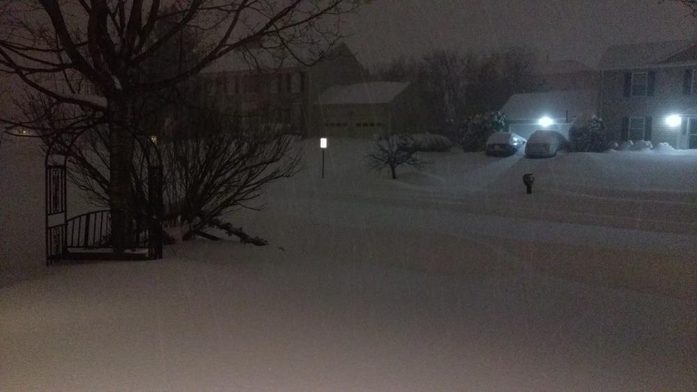 A beautiful snowy night.