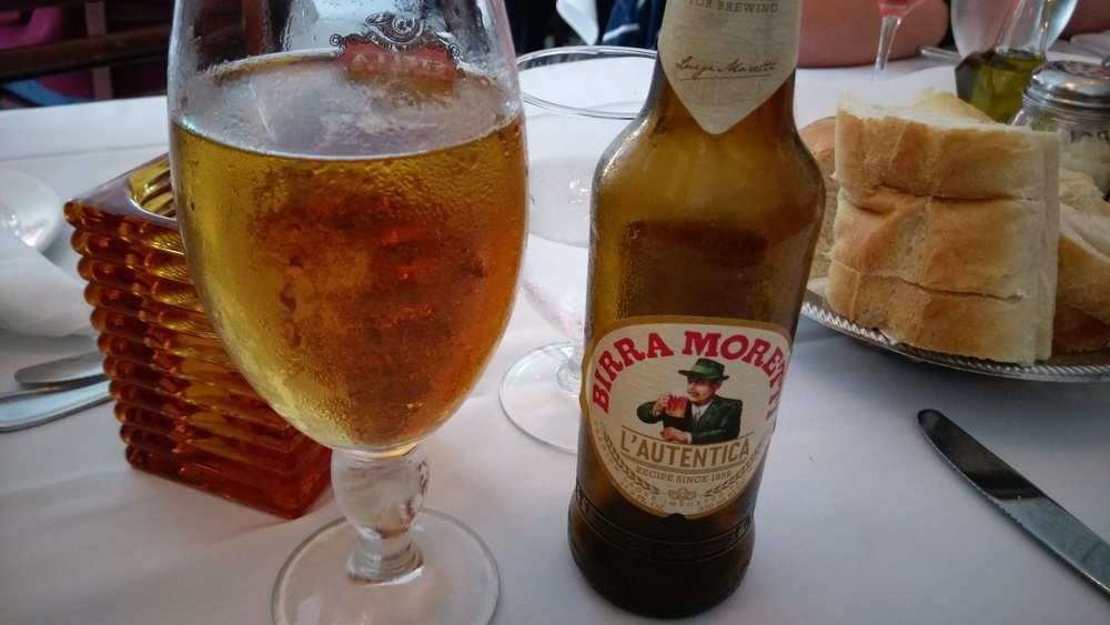 When in Little Italy make sure to drink an Italian beer.