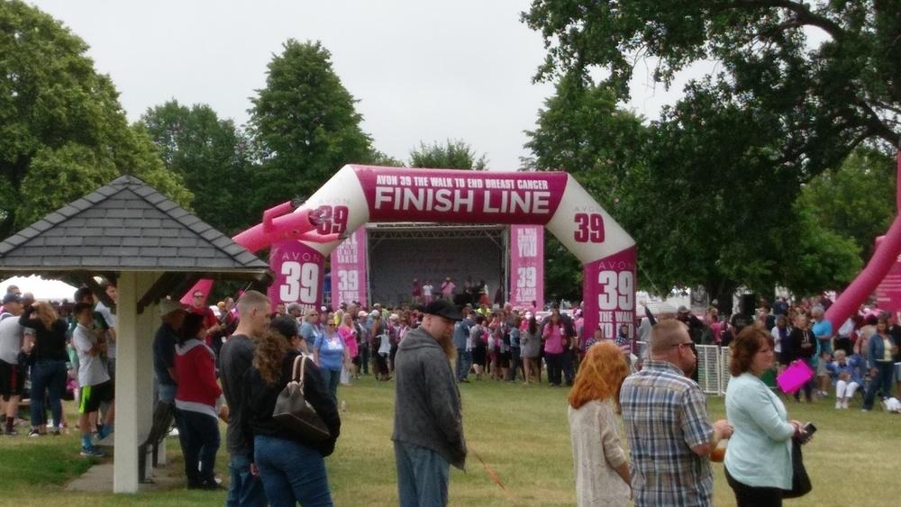 Finish line jam
