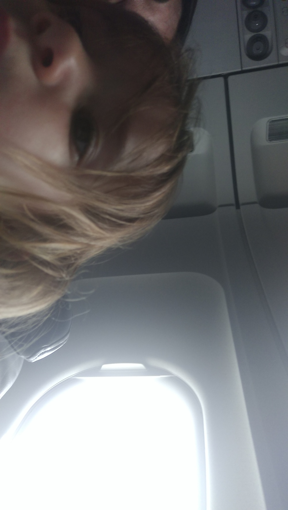 Cece took this picture on the plane