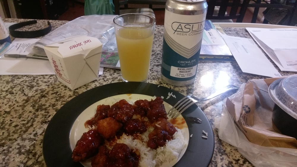 Chinese and Beer. Delicious.