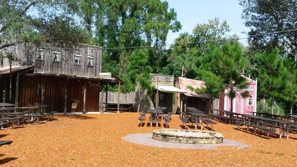 Fake old west village at the resort