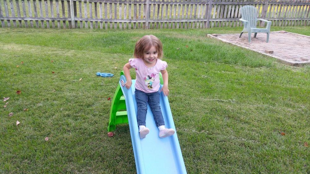 Cece loves her slide