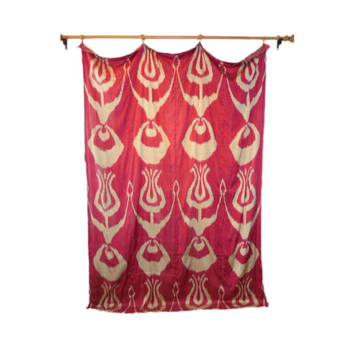 central asian kist wall hanging, anthony hazledine rugs and textiles, central asia, wall hanging, ikat, handwoven, textiles, antiques, vintage
