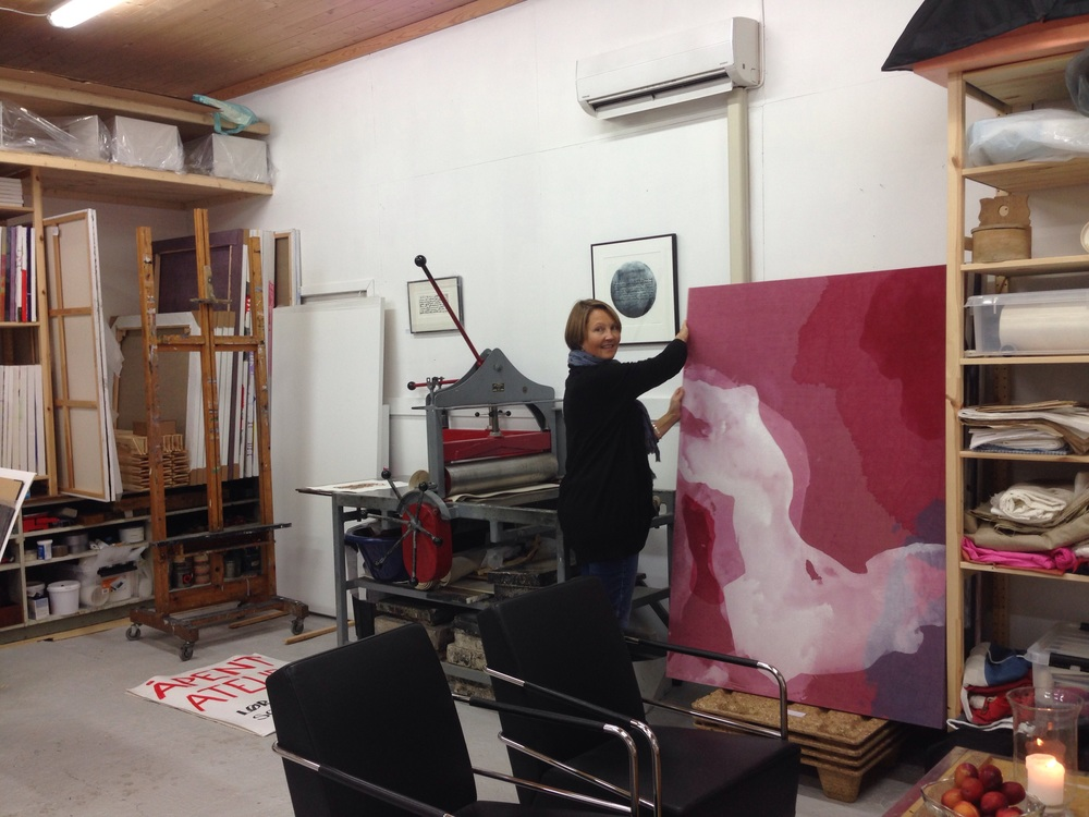 Skulptur og maleri - ulike prosjekter i atelieet.