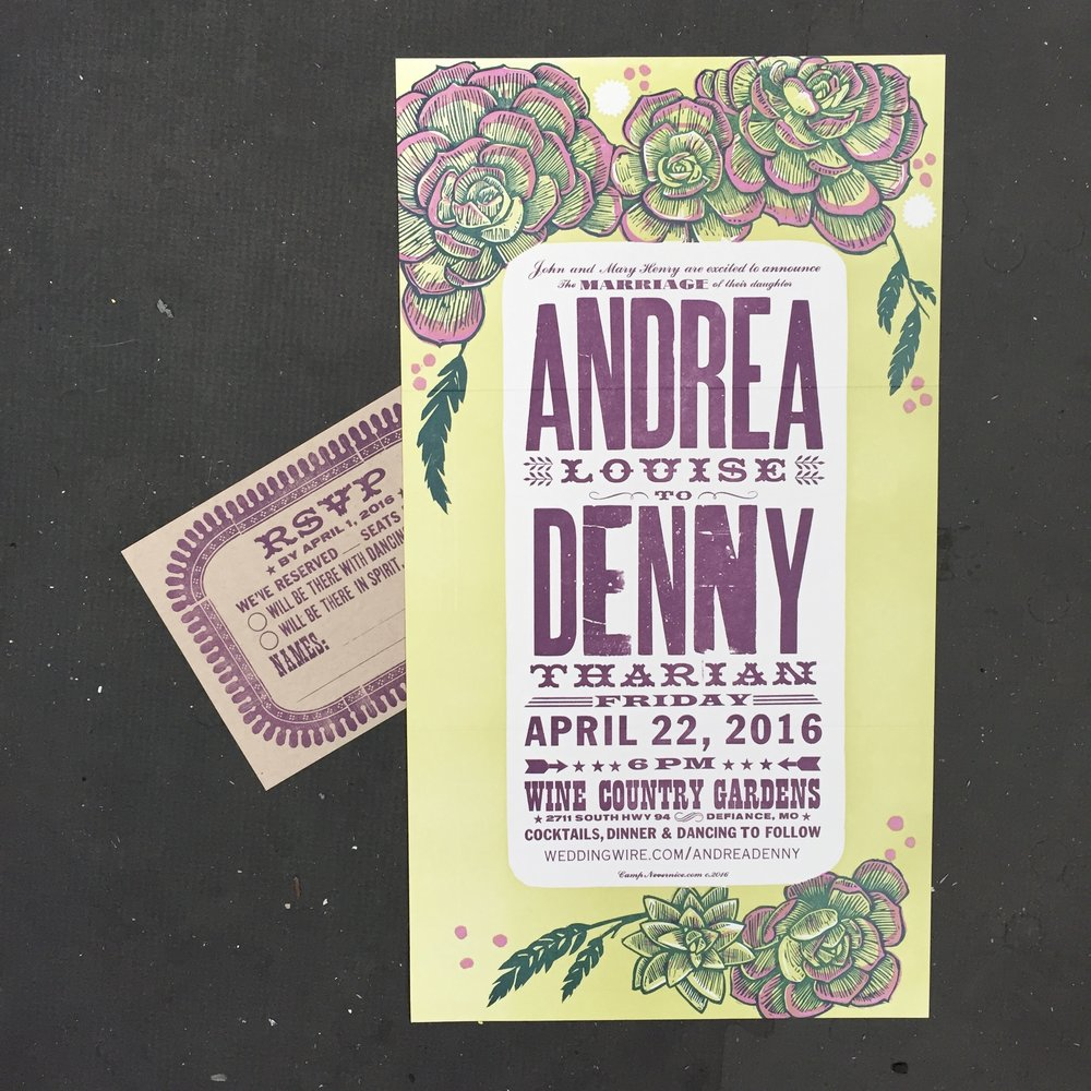 succulentweddinginvitation